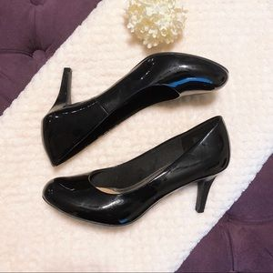 COMFORT PLUS GLOSSY BLACK PUMPS WOMENS SIZE 9